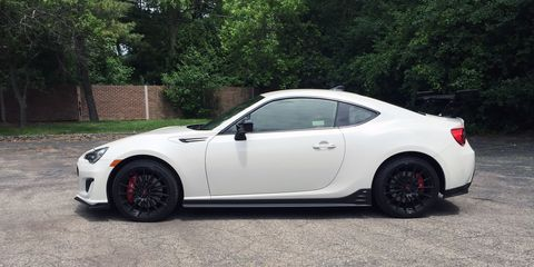 The 2018 Subaru BRZ tS gets a stiffer suspension, bigger wing and better tires than the standard BRZ.