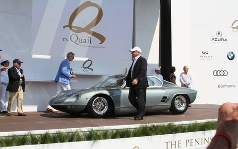 Rolex Circle of Champions Best of Show Award was won by a 1964 ATS 2500 GTS