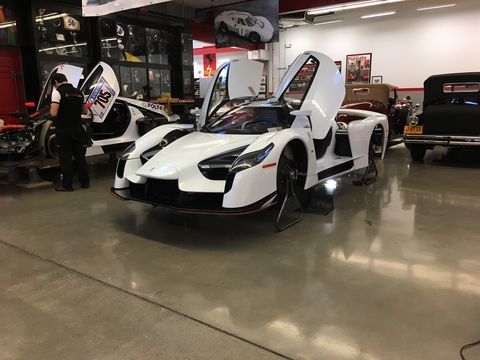 Epic cars, the lot of 'em. The James Glickenhaus car collection rests at the SCG workshop, as do the SCG 003s and 003c cars.