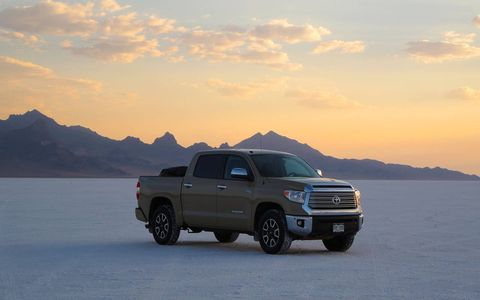 A big, imposing truck that does a fine job on long road trips.
