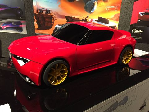 Charlie Angulo's 2025 Alfa Romeo Vettone looks a lot like Lightning McQueen