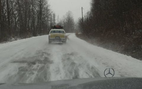 While the other rally participants froze solid and/or slid off the icy roads approaching Buffalo, I enjoyed absolutely drama-free driving comfort in my 4Matic W222.