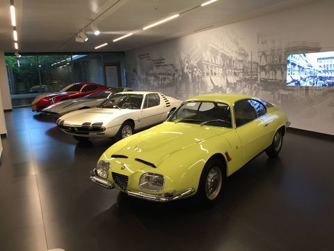 The Alfa Romeo Museo Storico was completely redone and opened again in 2015. If you thought you might have loved Alfas before, you will know it for sure when you step inside this building 10 miles outside Milan, Italy. There wasn't a car in there that you wouldn't love to drive.