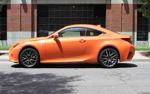 The 2016 Lexus RC200t F-Sport sports a turbocharged four, double wishbone suspension and an eight-speed automatic transmission.