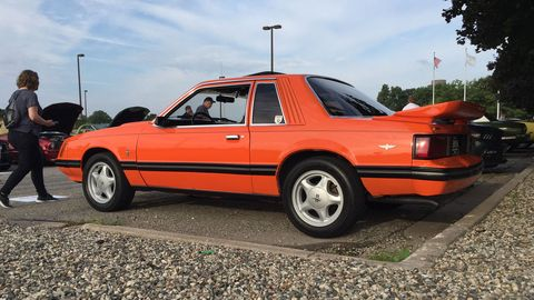 An early example of a Fox Body Mustang.