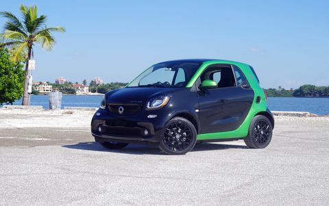 The 2017 Smart Fortwo Electric Drive has a range of about 80 miles.