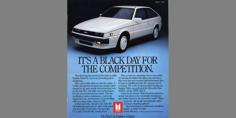 At $16,239, more than two grand cheaper than the '87 Nissan 300ZX, but nearly the same price as the Merkur XR4Ti.