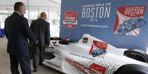 This Boston Grand Prix show car was auctioned off after plans for the event fell apart.