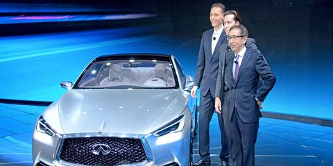 The 2015 Infiniti Q60 concept coupe made its debut at the Detroit Auto Show, closely previewing a production car.