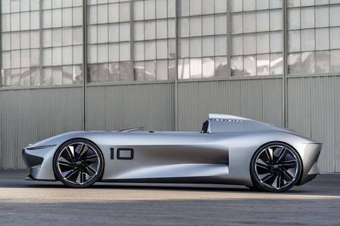 The wild Infiniti Project 10 speedster takes a look at racing's past and a look toward an electrified future.