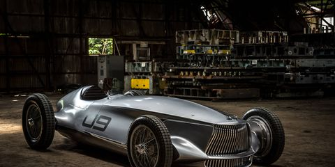 Infiniti's Prototype 9 answers the question no one asked but maybe should have: What would an Infiniti race car look like in the '40s?