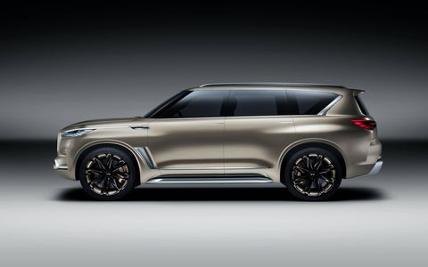 The Infiniti QX80 Monograph is a design study for the brand, and should preview the next big SUV.