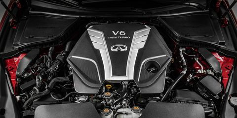 The newest Infiniti engine is the second member of the VR family. The founding father of the platform can be found in the Nissan GT-R.