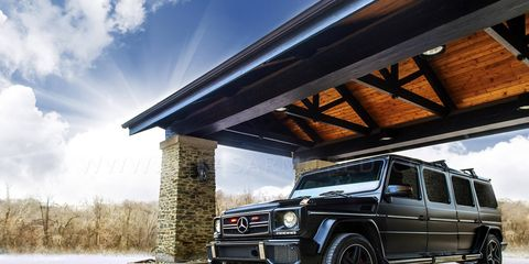 The INKAS G-wagen is bulletproof, bomb proof and looks like a pretty nice place to travel.