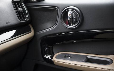 The Mini Cooper Countryman's interior is still as idiosyncratic as ever.