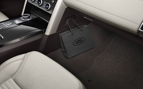Inside the 2017 Land Rover Discovery luxury SUV, introduced ahead of the 2016 Paris motor show.