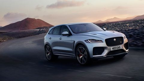The 2019 Jaguar F-Pace SVR makes its debut ahead of the New York auto show with a 550-hp supercharged V8 under its hood.