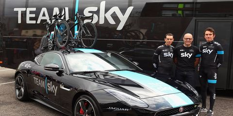This one-off F-Type Coupe is set to assist Team Sky during stage 20 of the Tour de France.