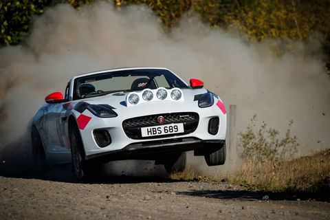 The one-off Jaguar F-Type rally cars also pay homage to the legendary Jaguar XK 120 registered 'NUB 120' which, in the early 1950s in the hands of Ian Appleyard, completed three consecutive Alpine Rallies without incurring a single penalty point, and won the RAC and Tulip.