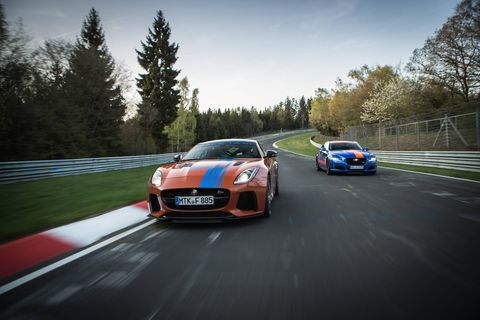 Jaguar is offering Nurburgring thrill rides in F-Type SVRs and XJR575s.