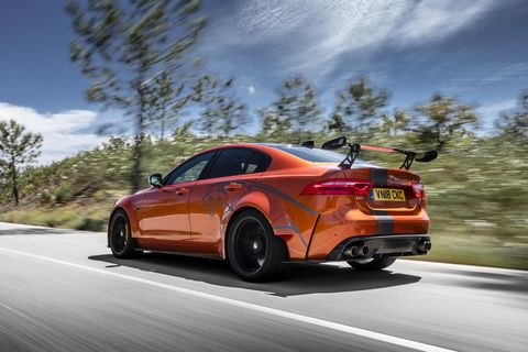 2019 Jaguar XE SV Project 8 On the Road