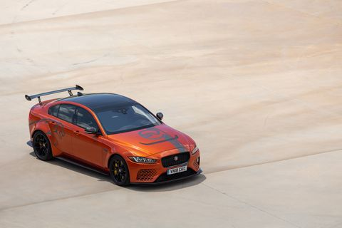 2019 Jaguar XE SV Project 8 in the moment