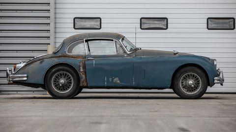 This XK150 was taken out of storage relatively recently, having been off the road since 1975.