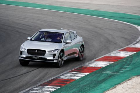 To help demonstrate the capability of the 2019 I-Pace, Jaguar had us drive it both off-road and on-track -- two places the EV is unlikely to spend much time. But know that the car can do either!