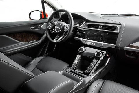 Because its mechanical systems don't intrude on the passenger compartment, the Jaguar I-Pace's cabin is roomy; it feels about one vehicle size larger than its footprint would suggest.