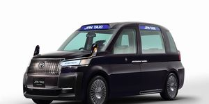 The Tokyo Taxi Concept was shown in 2013 at the Tokyo Motor Show, previewing a London-style cab.