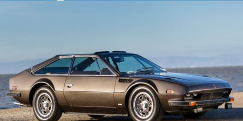This rare Jarama has the optional double pane removable roof panels.