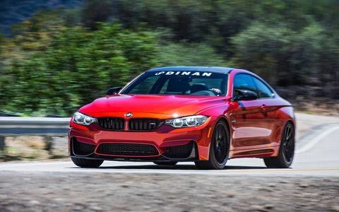 The Dinan S2 M4 makes a listed 548 hp and 549 lb ft of torque. Adjustable coilovers and a whole bunch of suspension bits make it a car for the track more than the street.