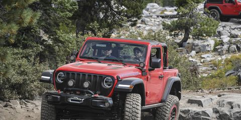 The 2018 Jeep Wrangler Rubicon is right at home far off road.
