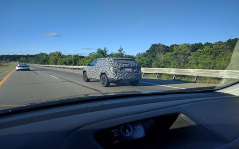 Keen-eyed reader Spencer spotted this camo-clad Jeep during an early-morning road test.