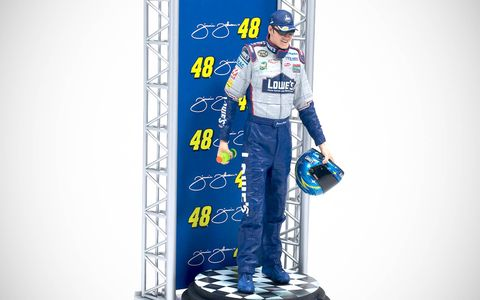 This Jimmie Johnson action figure was released by McFarlane in the early 2000s.