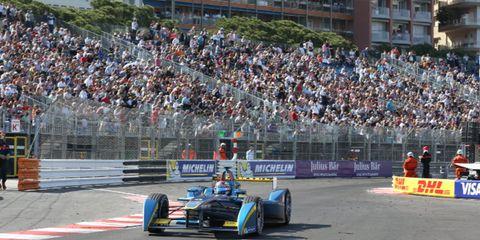 Sebastien Buemi won Saturday's Formula E race in Monaco from the pole.