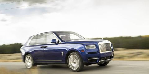 Rolls-Royce's first SUV is a doozy: huge and powerful, but with champagne flutes stored in a damage-proof enclosure, all the things you want in a Rolls plus a little bit of off-roadability.