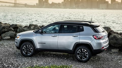 The 2018 Jeep Compass Trailhawk comes with a 2.4-liter four and a nine-speed automatic.