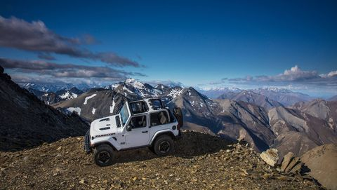 we tested a handful of 2018 jeep wrangler jl rubicons in sheep spotted backcountry of new zealand's beautiful south island we didn't work much on road driving into our expedition, but given how capable these machines are off road, it's tough to complain