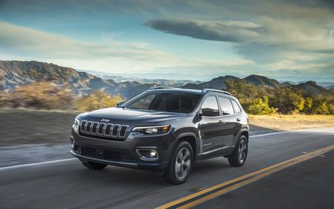 The 2019 Jeep Cherokee gets about half a complete makeover, including a more mainstream grille and a new turbo four, all while remaining just as confident off-road.