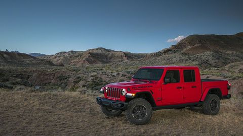 The 2020 Jeep Gladiator will come with a 3.6-liter V6 making 280 hp at launch. The 3.0-liter EcoDiesel comes later.