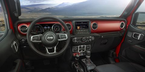 Inside the 2020 Jeep Gladiator. It should come as no surprise that it looks an awful lot like the current Jeep Wranglers -- which is by no means a bad thing.