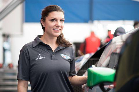Katherine Legge thrives in a race car