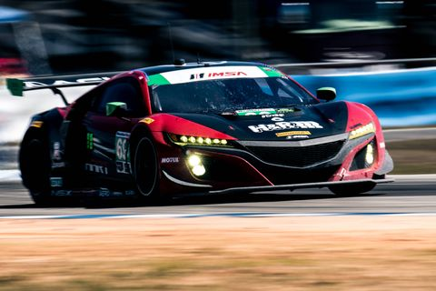Ryan Eversley in his Acura NSX GT3 car at the 12 Hours of Sebring