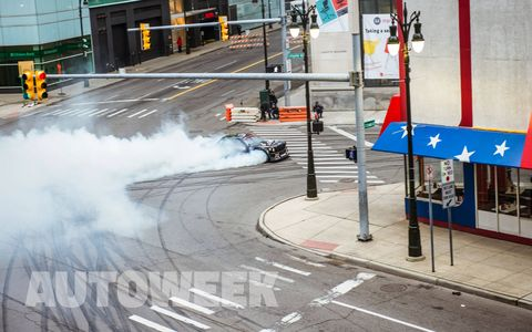 Ken Block unleashed his Hoonicorn Mustang on the streets of Detroit for what we're hoping is the next gymkhana video.
