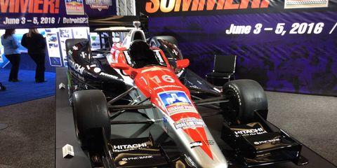 The Detroit Grand Prix display IndyCar car.