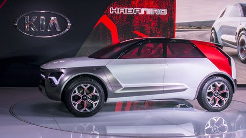 Kia unveiled the HabaNiro concept at the 2019 New York auto show, previewing an autonomous, electric car of the future.
