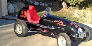 This 1946 Kurtis-Kraft midget racer recently received a complete restoration.