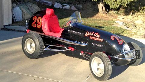 This 1946 Kurtis-Kraft midget racer recently received a complete restoration.