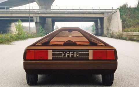 The Karin was a styling exercise that distantly previewed a number of wedge-shaped Citroens of later years, most notably the XM.